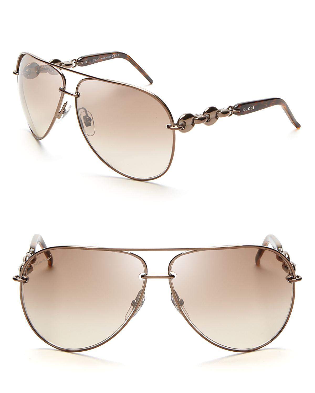 a43a891eb3d Gucci Womens Gucci 2887 s Aviator Sunglasses