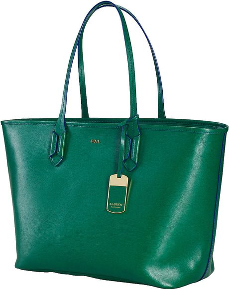 Lauren By Ralph Lauren Tate Classic Leather Tote Bag in ...