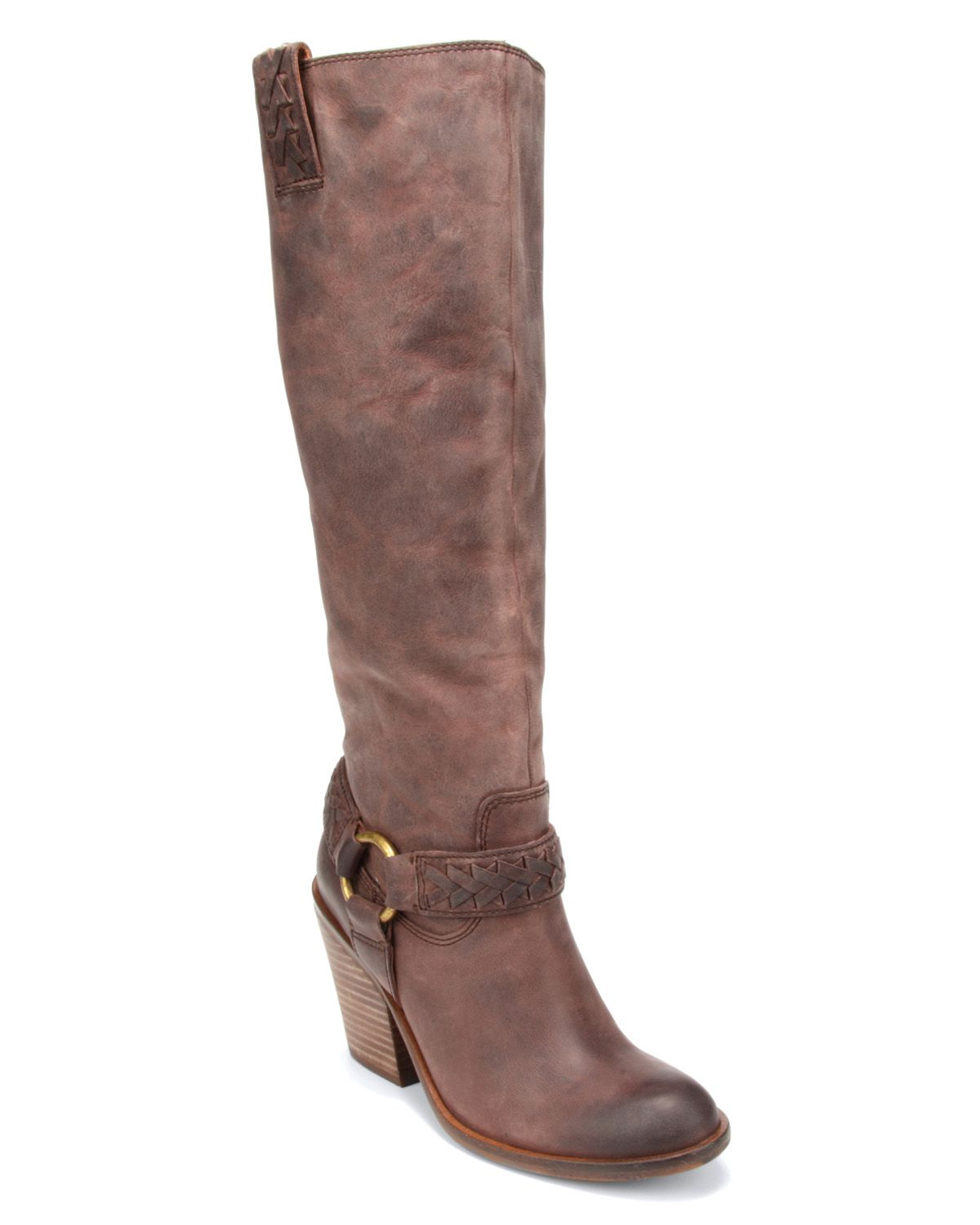 lucky brand western boots ethelda in gray lavender