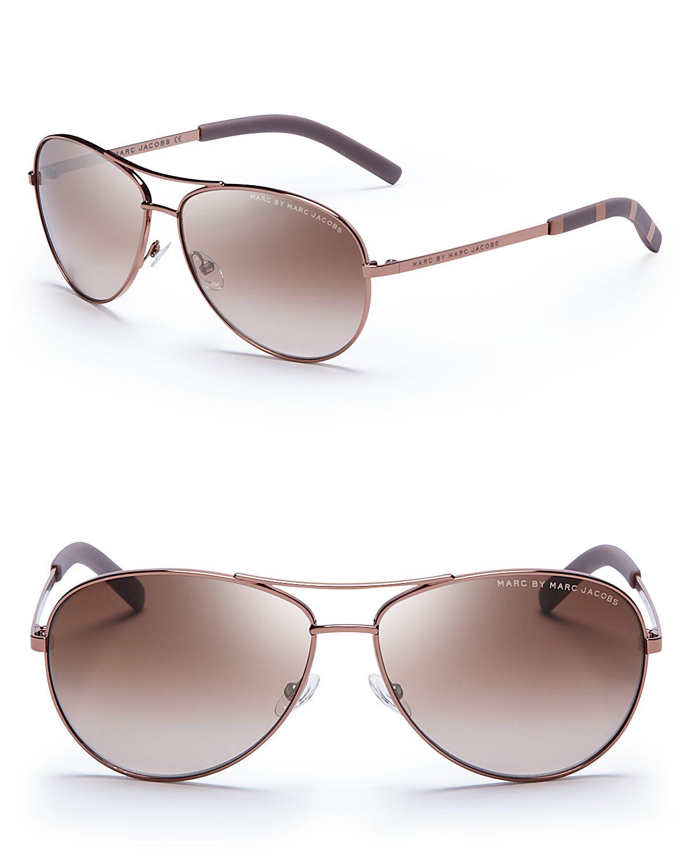 9b2cb02fd0282 Marc By Marc Jacobs Side Stripe Aviator Sunglasses « Heritage Malta