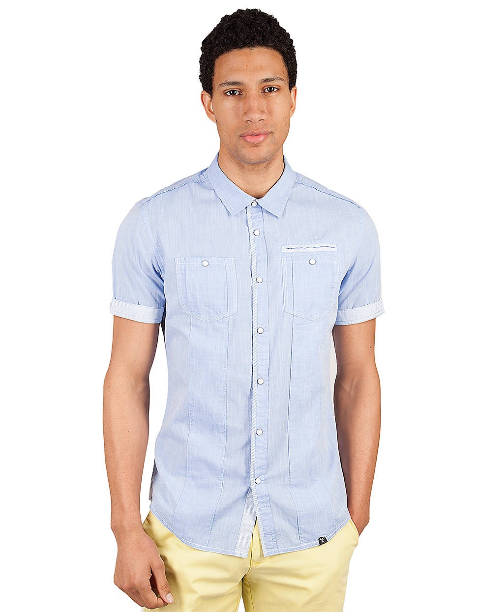 Marc ecko pysche sport shirt in blue for men sky blue lyst for Marc ecko dress shirts