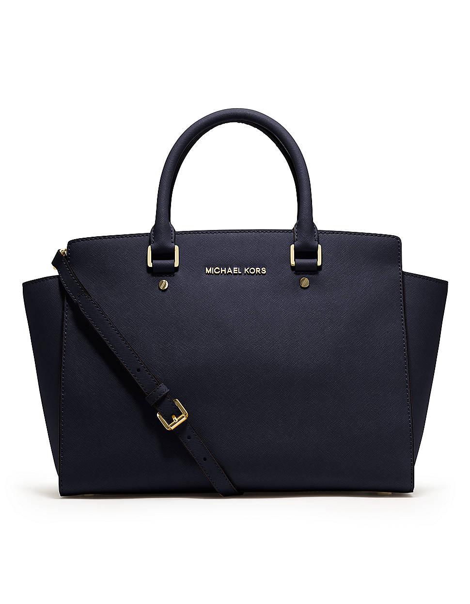 michael michael kors selma saffiano leather large satchel. Black Bedroom Furniture Sets. Home Design Ideas