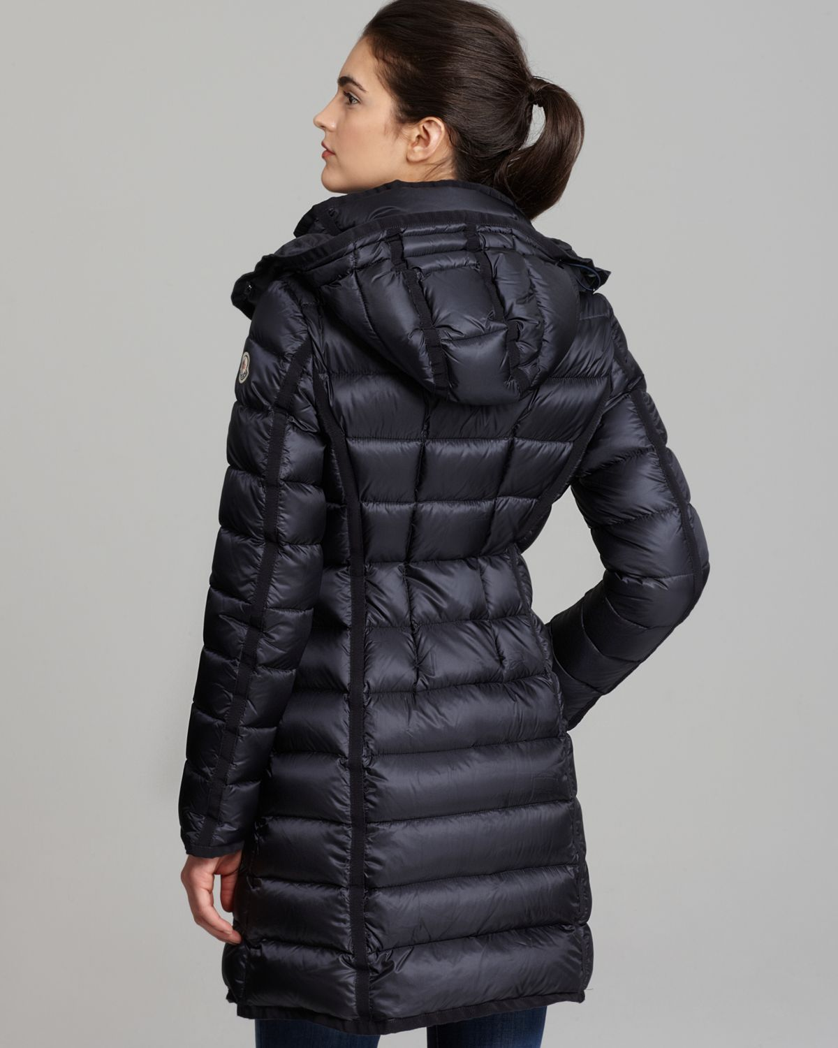 Lyst Moncler Hermine Collar Down Coat In Blue