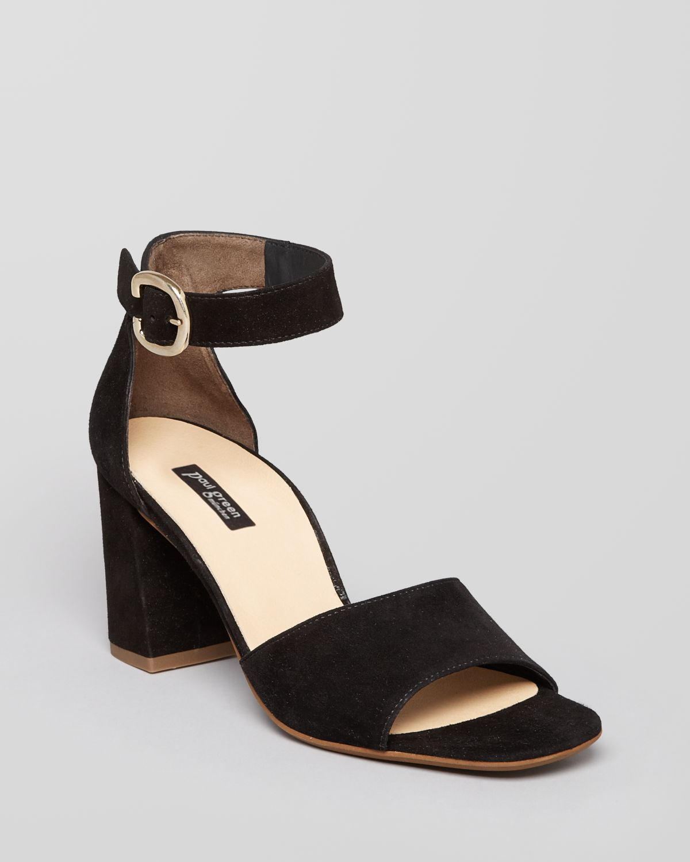 paul green sandals retro high heel in black lyst. Black Bedroom Furniture Sets. Home Design Ideas