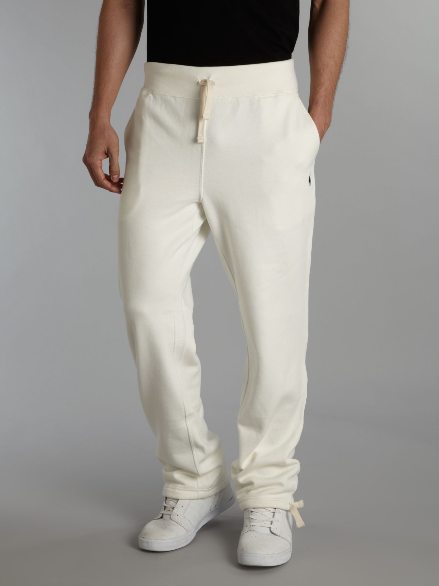 Polo ralph lauren Loose Drawcord Sweat Pants in White for Men | Lyst
