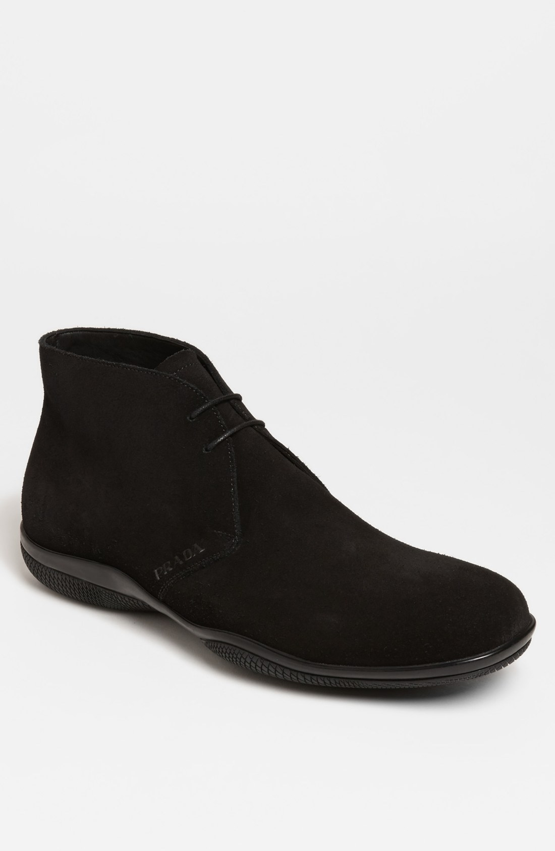 prada toblac chukka boot in black for lyst