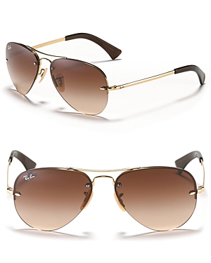 ray ban rimless small aviator sunglasses  gallery