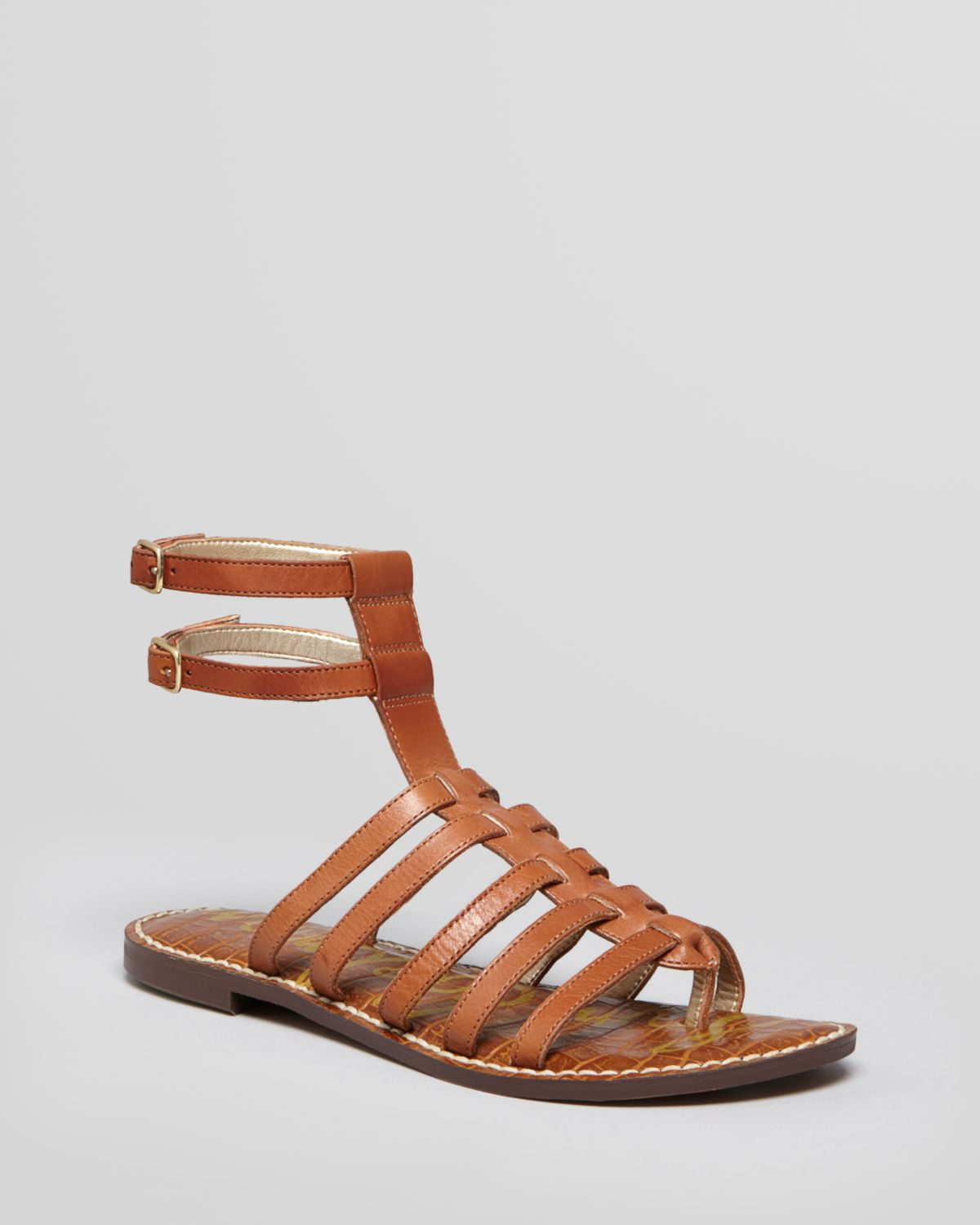 e7c4678da9ed Lyst - Sam Edelman Gladiator Sandals Gilda Flat in Brown