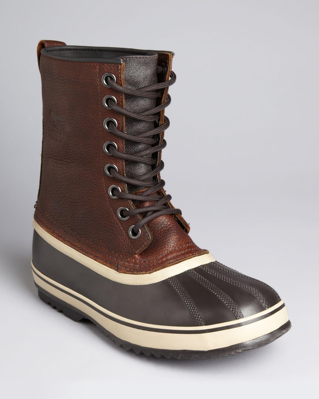 Sorel 1964 Premium Waterproof Leather Boots In Brown