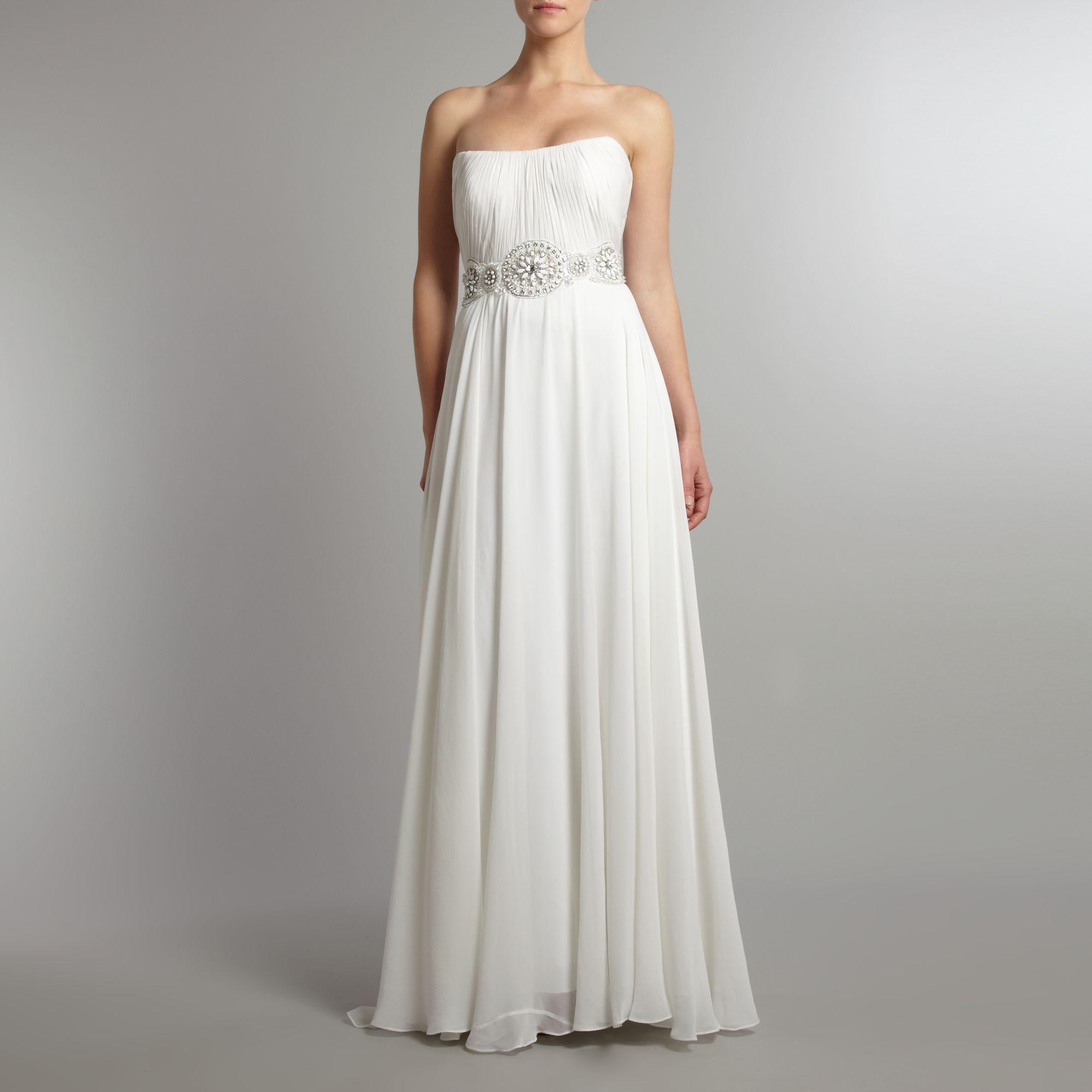Theia Silk Chiffon Goddess Bridal Dress In White