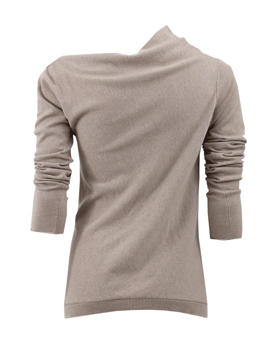 brunello cucinelli off shoulder trapeze pullover in gray. Black Bedroom Furniture Sets. Home Design Ideas