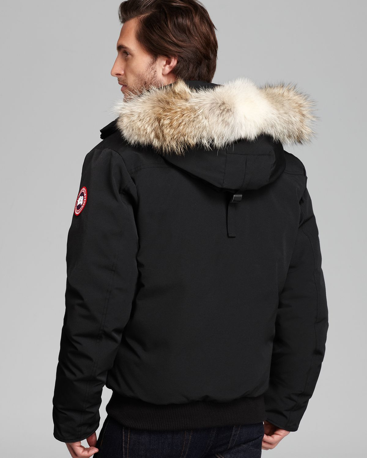 237729c14f0 ... inexpensive lyst canada goose borden bomber parka with fur hood in black  for men 42d05 a76a9