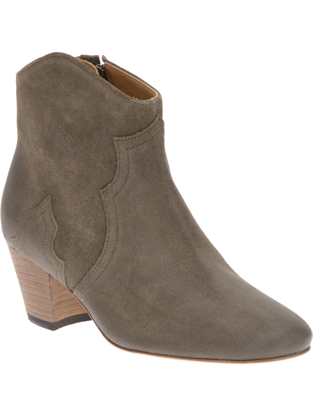 isabel marant dicker ankle boot in beige bronze lyst. Black Bedroom Furniture Sets. Home Design Ideas