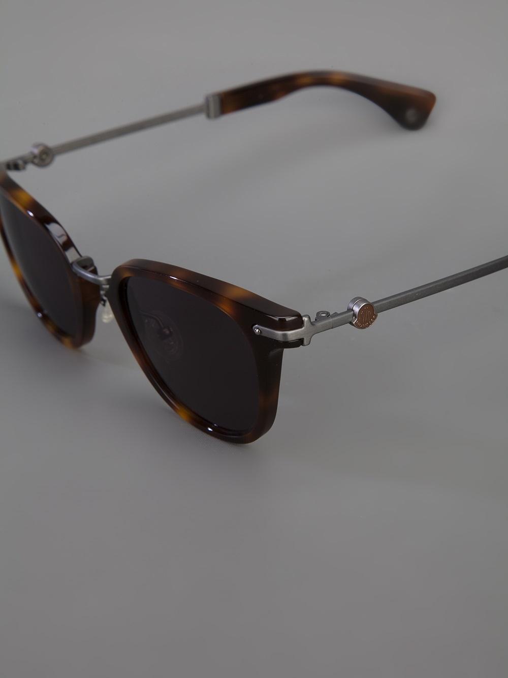 Moncler Mc502 Sunglasses in Brown (Grey)