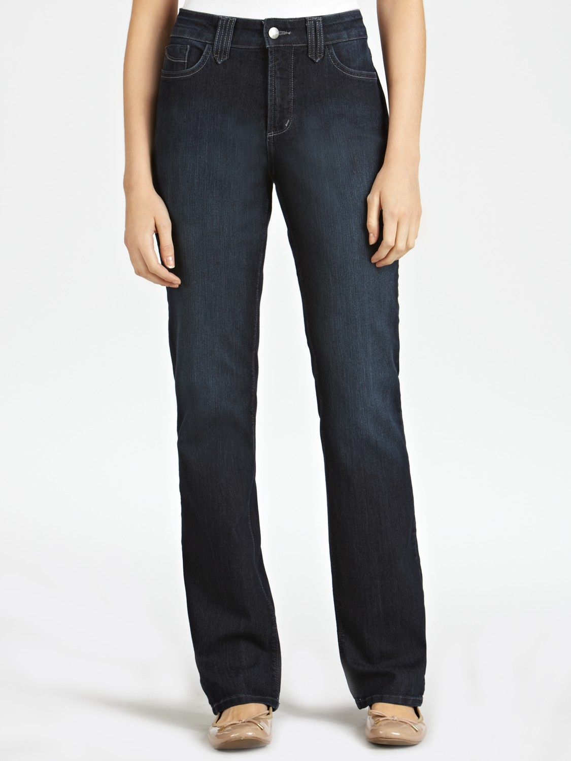 Not Your Daughter's Jeans Denim Straight Washed Jeans in Blue