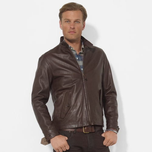 63177f3f4e2 Lyst - Polo Ralph Lauren Leather Barracuda Jacket in Brown for Men