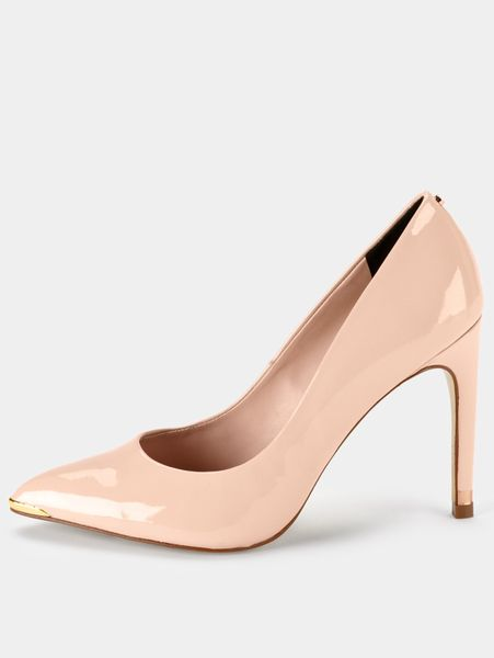 ted baker neevo pointed court shoes in pink lyst