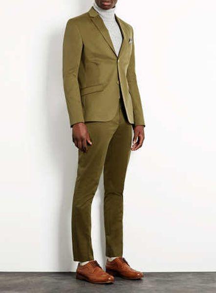 Topman Khaki Cotton Skinny Suit Pants In Green For Men Lyst