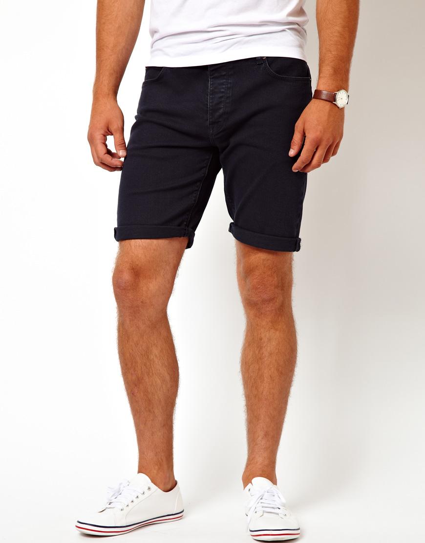 Asos Curve Asos Denim Shorts in Skinny Fit in Blue for Men ...