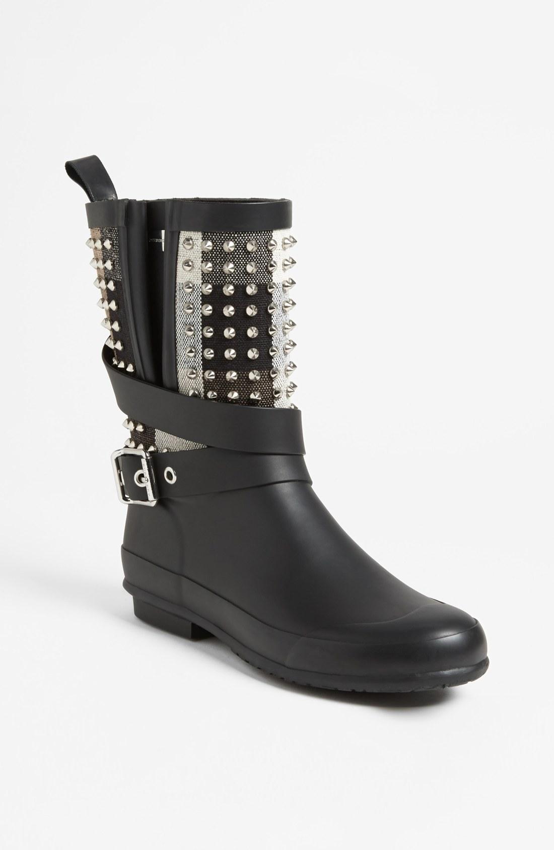 Burberry Holloway Rain Boot In Black Lyst
