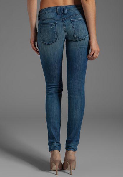 Frankie B Jeans Frankie Skinny In Japan Blue In Blue