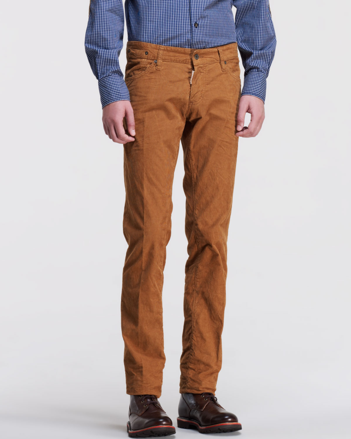 purchase newest choose clearance latest trends of 2019 DSquared² Brown Slimfit Corduroy Pants Camel for men