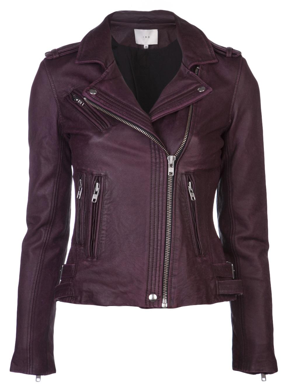 Lyst Iro Han Biker Jacket In Purple