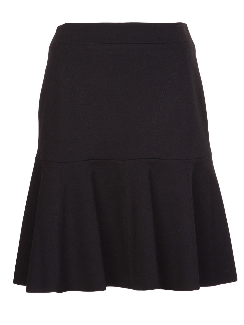 n 176 21 ponte knit aline skirt in black lyst