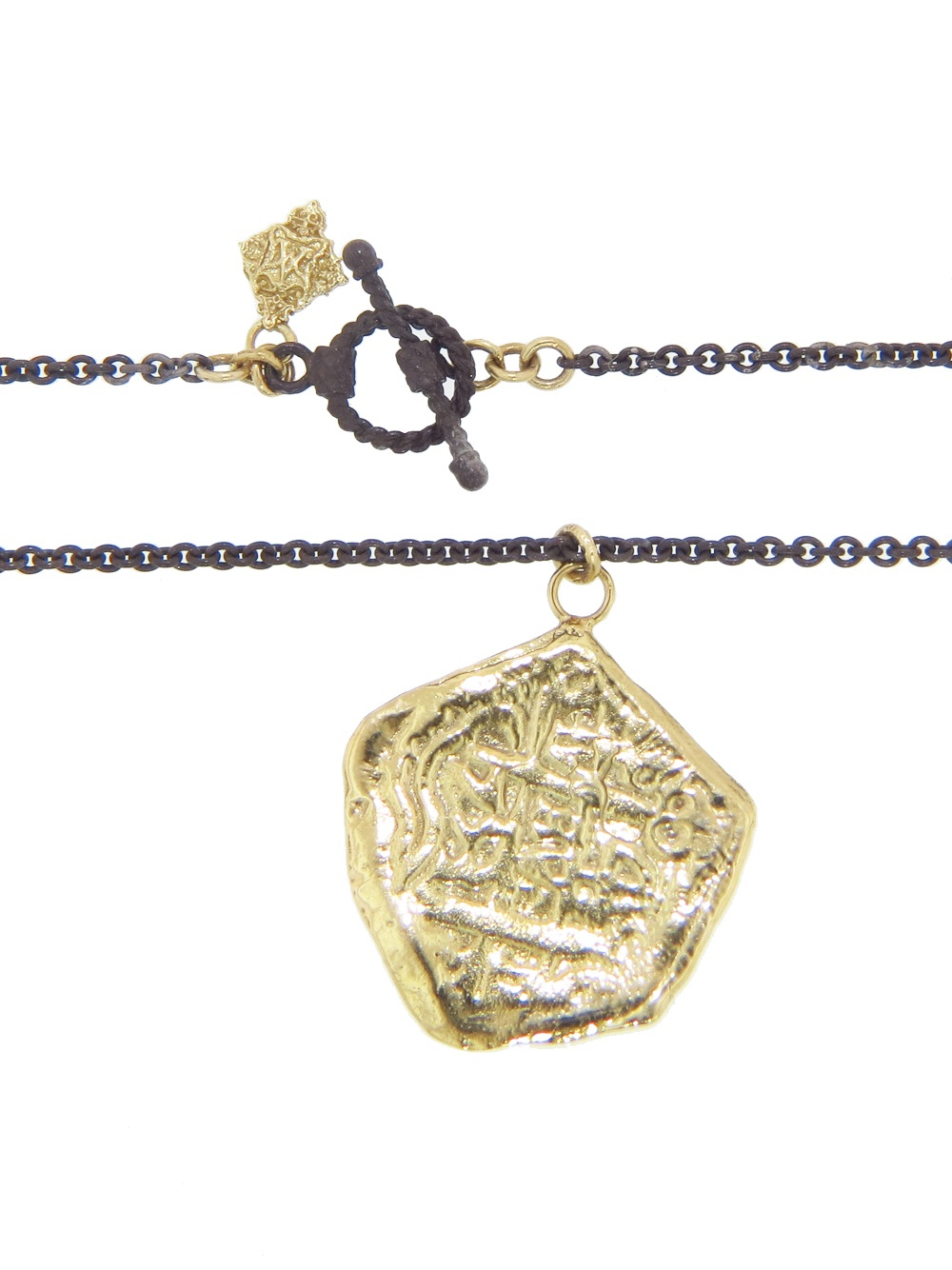 Armenta Ancient Coin Pendant in Metallic