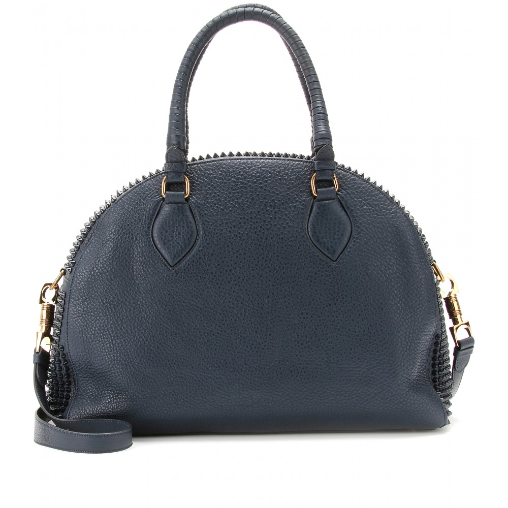 Christian Louboutin Panettone Large Studded Tote in Blue