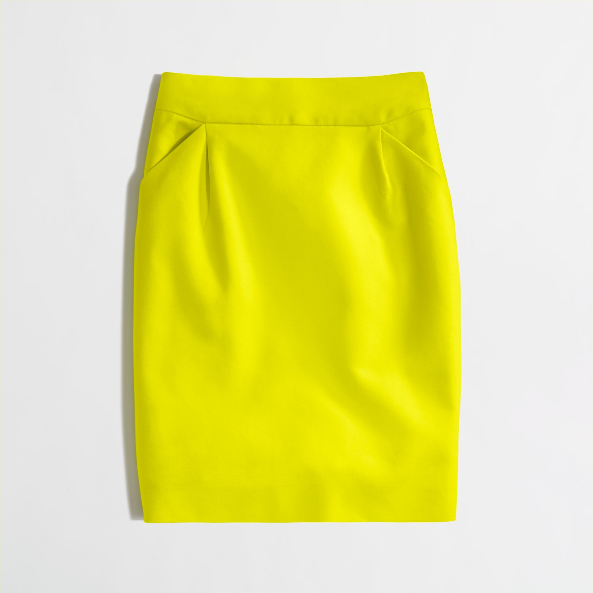 1255de93a96d J.Crew Factory Pencil Skirt in Doubleserge Cotton in Yellow - Lyst