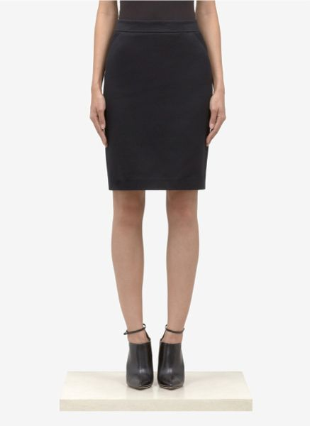 black cotton pencil skirt big