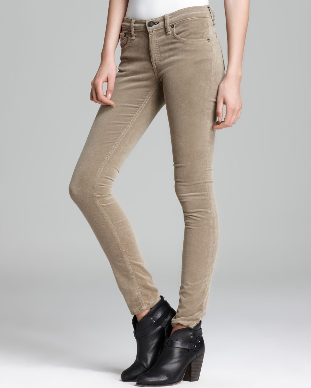 Lyst - Rag   Bone Jeans The Skinny in Desert Khaki Cord in Natural a70b832455