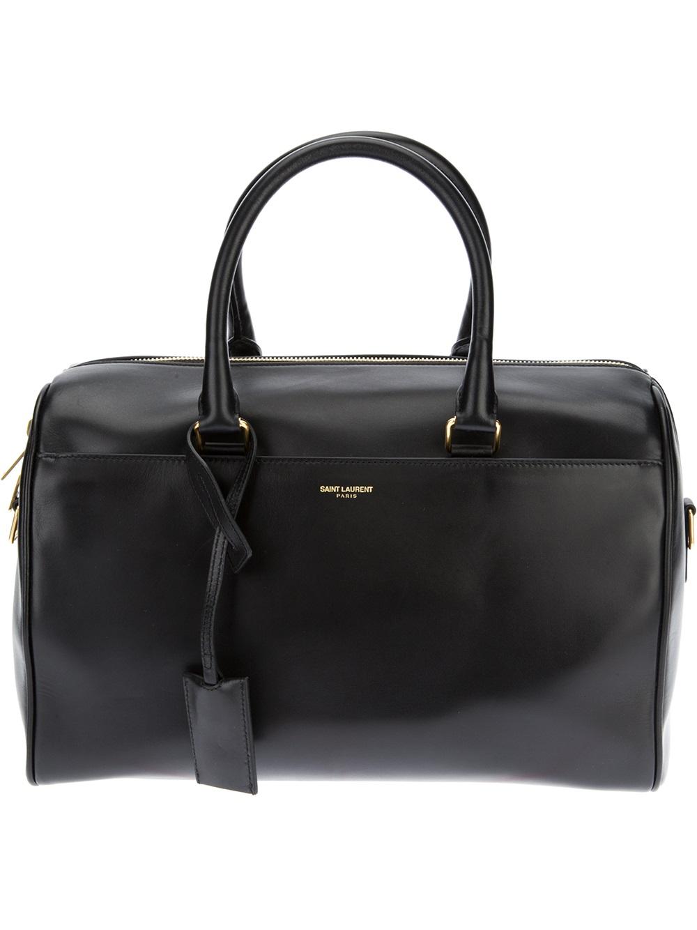 saint laurent classic duffle bag in black