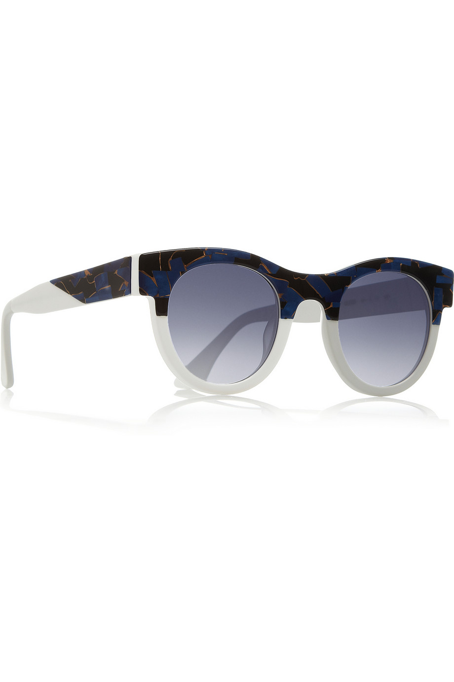 Thierry Lasry Agony Roundframe Acetate Sunglasses in Blue