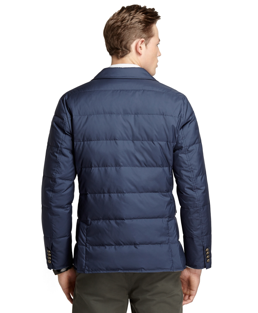 Quilted Blazers: Brooks Brothers Quilted Down Blazer In Blue For Men