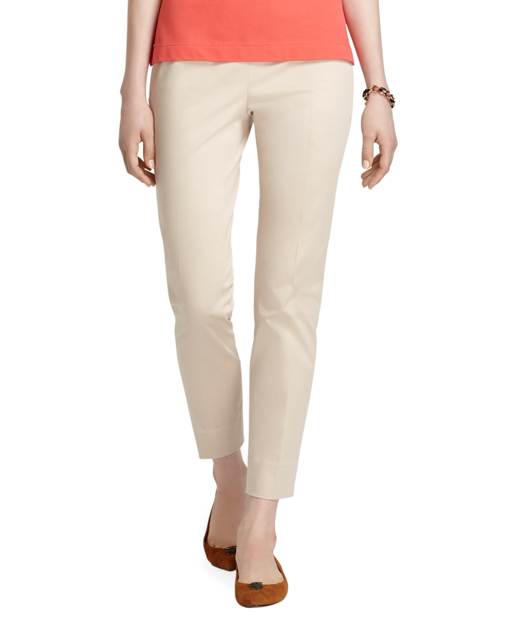 Brooks brothers Natalie Fit Cotton Stretch Capri Pants in ...