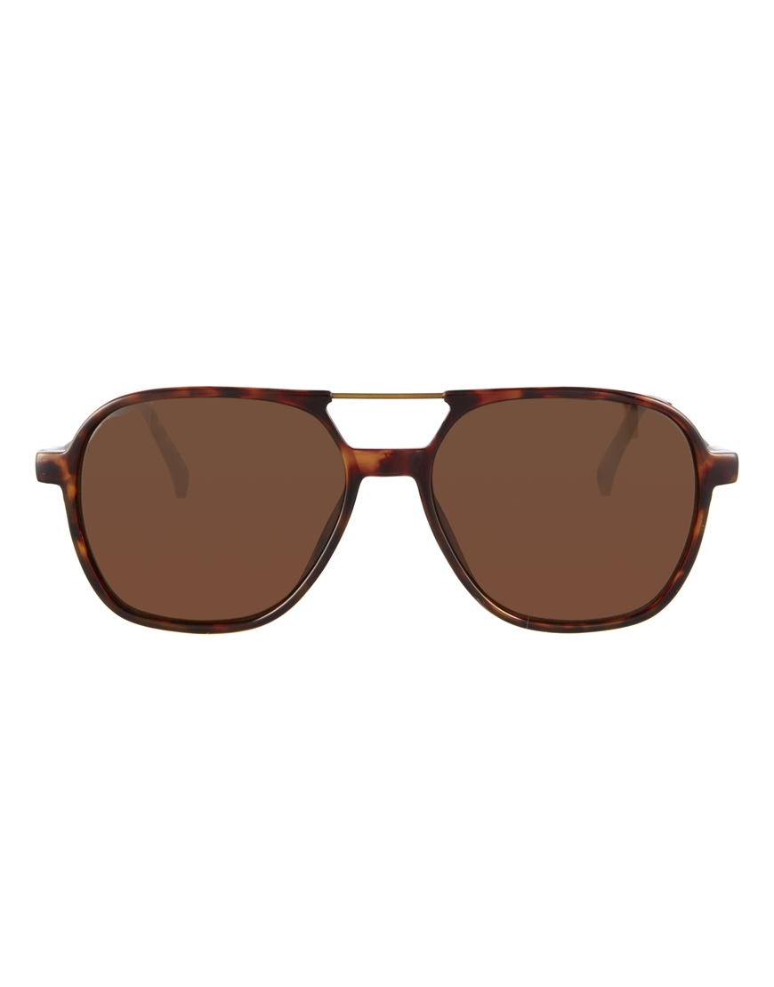 Calvin klein jeans Ck Jeans Aviator Sunglasses in Brown for Men | Lyst