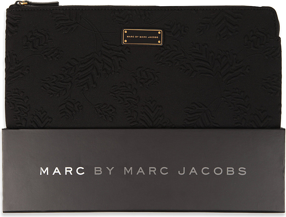 lyst marc by marc jacobs mareika 13 laptop case in black. Black Bedroom Furniture Sets. Home Design Ideas