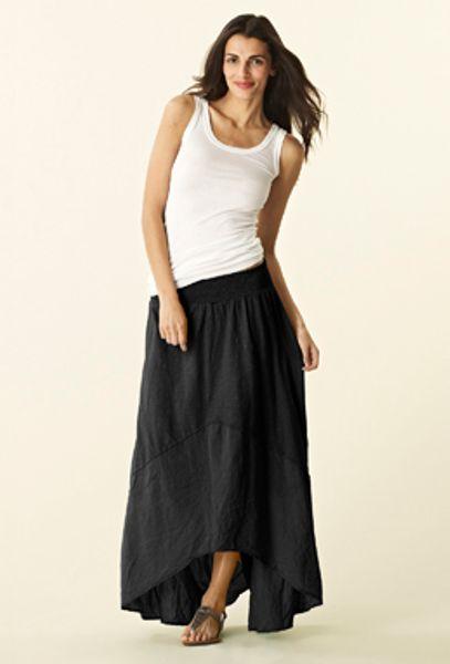 michael hi low maxi skirt in black lyst