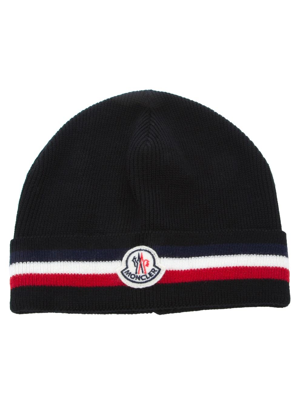b658547fe65 Lyst - Moncler Beanie Hat in Black for Men
