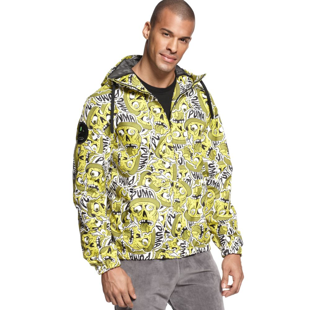 c9032827b3c8 Lyst - PUMA Bone-stripe Statement Jacket in Yellow for Men