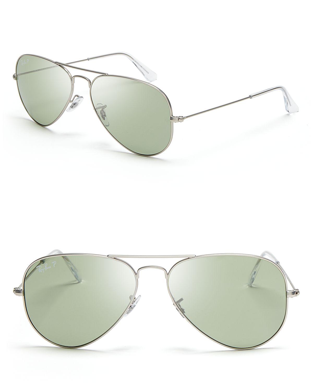 dd548c2d1f Ray-ban Original Polarized Aviator Sunglasses in Silver for Men (Matte  Silver Green