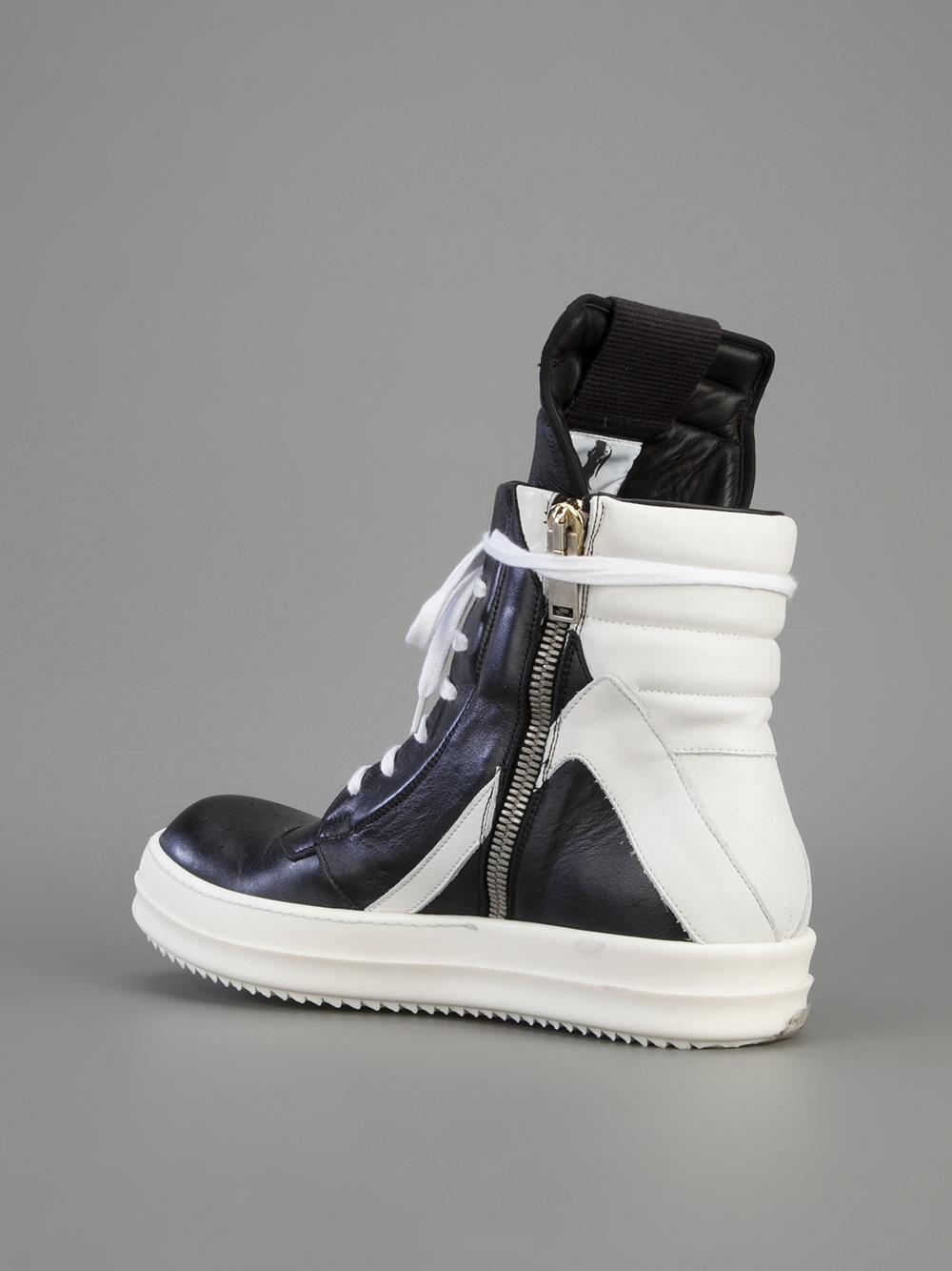 rick owens geobasket hitop sneaker for men lyst. Black Bedroom Furniture Sets. Home Design Ideas