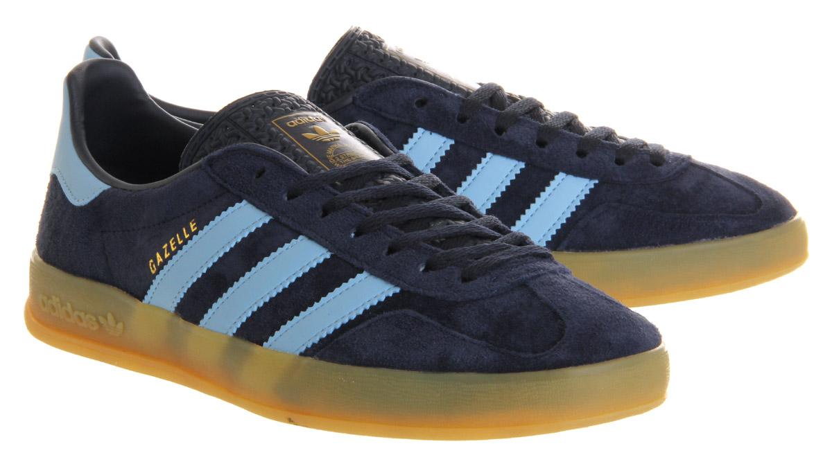 adidas blue gazelle indoor trainers