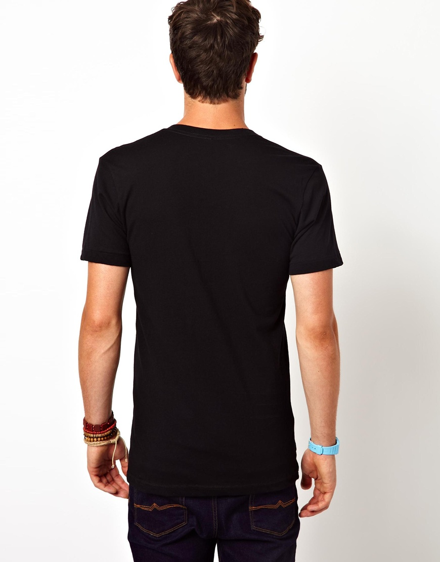 9e7fef4632c0 Lyst - American Apparel Tshirt Loose Sheer Jersey in Black for Men
