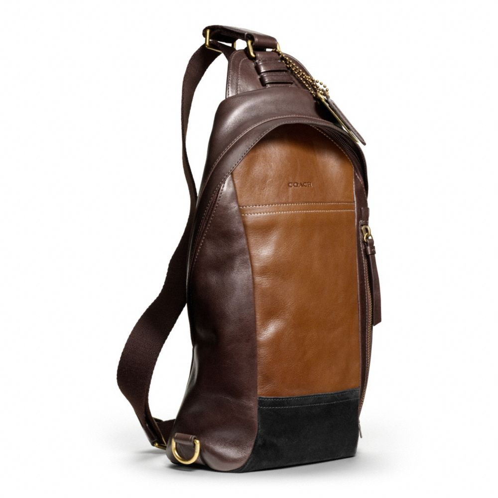 Coach Bleecker Convertible Sling Pack in Colorblock Leather in ...