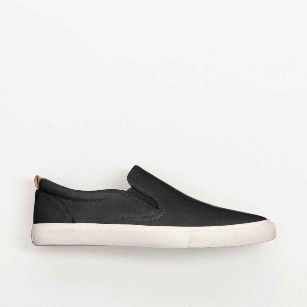 coach niles slip on sneaker in black for lyst