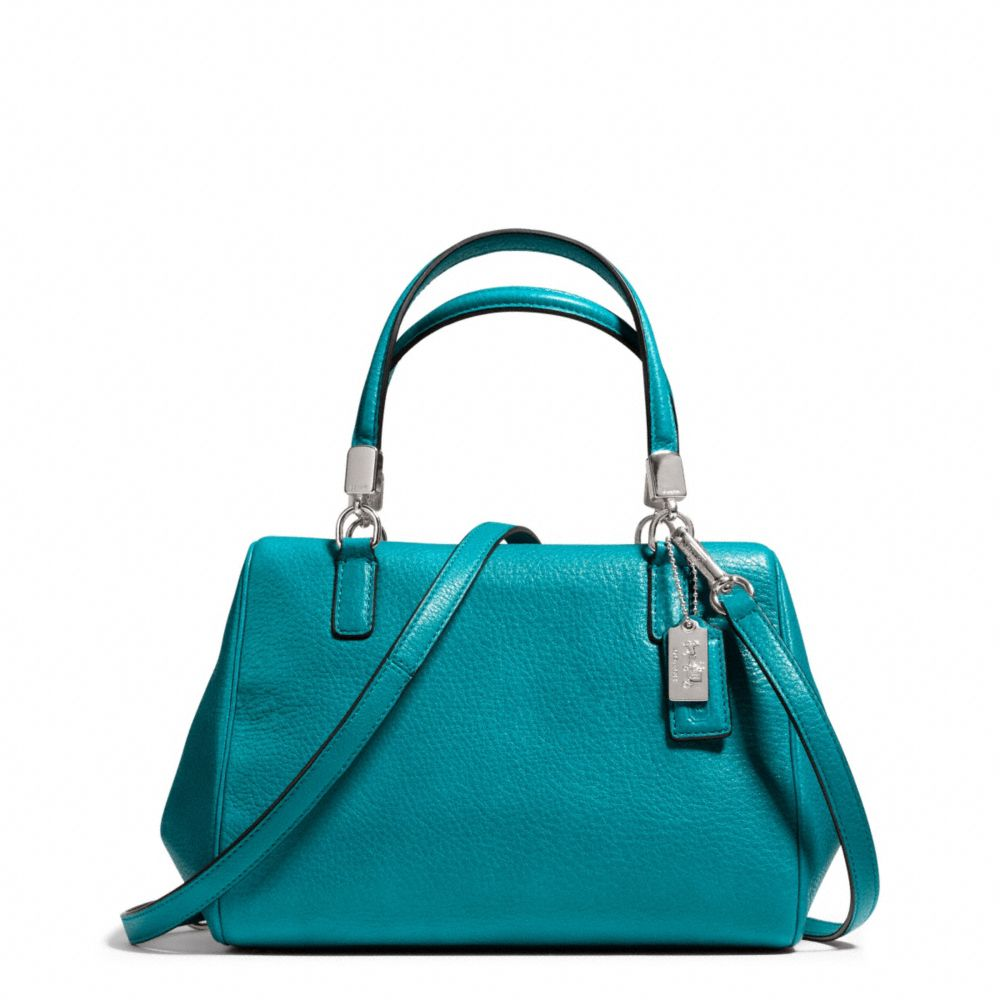 Lyst Coach Madison Mini Satchel In Leather In Blue