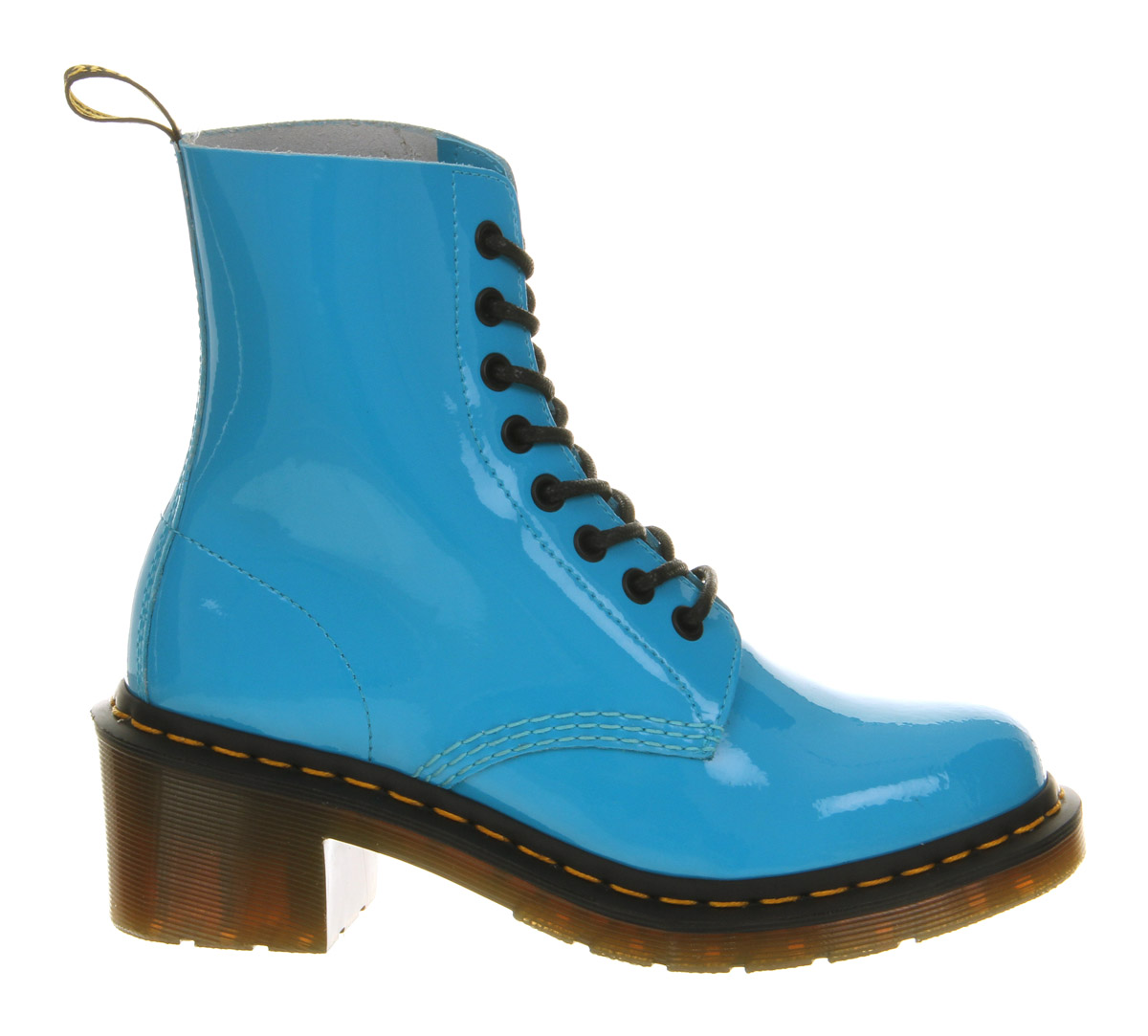 Dr Martens 8 Eyelet Heel Boot Sunny Blue Leather Lyst
